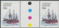 AAT SG51 55c Antarctic Ships - S.Y Discovery, gutter pair